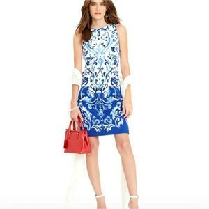 Lauren Ralph Lauren Proceclain Patter Dress